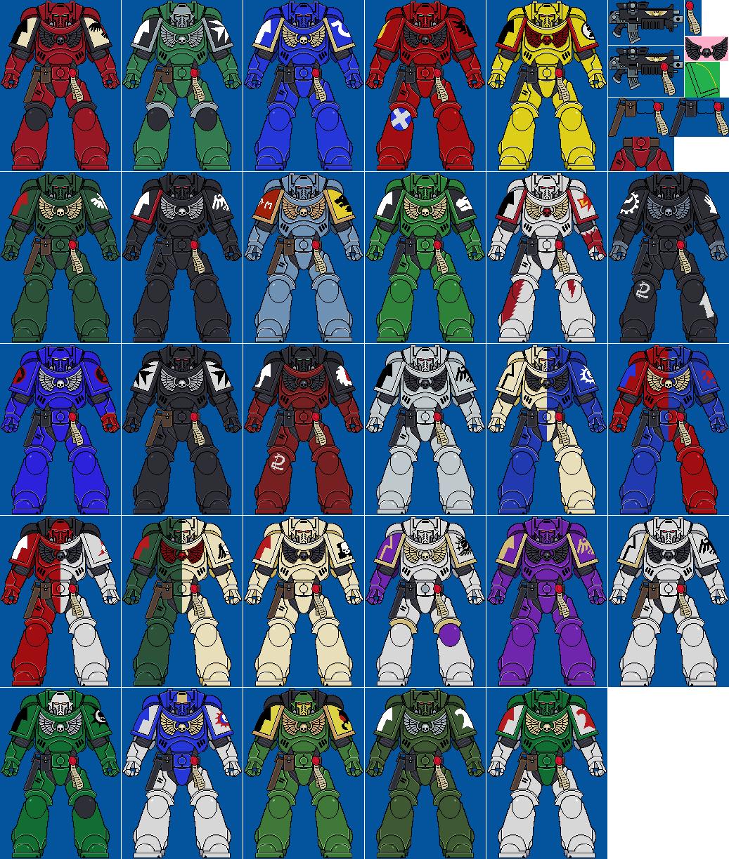 Primaris Space Marines Pixel By Davephillips On Deviantart