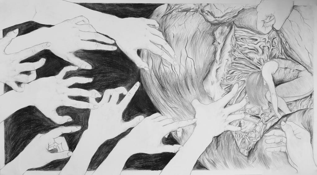 Reaching into a heart by savannahwu