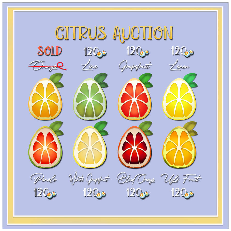 Alpaca Citrus Auction - OPEN