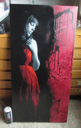 Girl in the red dress - Canvas