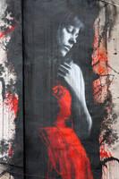 girl in red - detail by snikstencilstuff