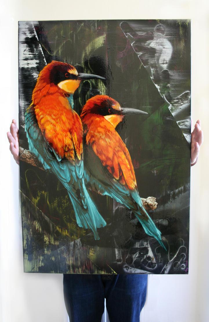 'Bawa Umlilo (winged fire)' by snikstencilstuff