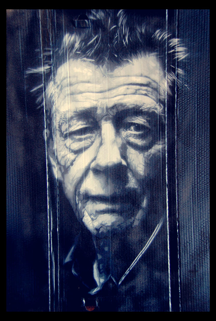 John Hurt portrait by snikstencilstuff