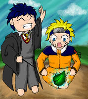 Harry Potter and Naruto :3 by TimeLapse