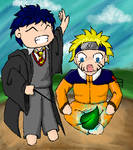 Harry Potter and Naruto :3
