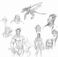Blood Orc Campaign Sketch References by OnHolyServiceBound