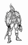 Orctober 2 #05 - Orc Mercenary by OnHolyServiceBound