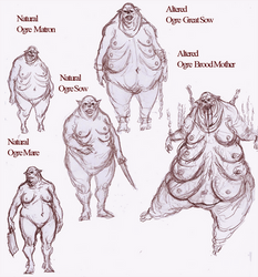 Ogre Female Sketches by OnHolyServiceBound
