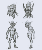 War Goblin Sketch Reference by OnHolyServiceBound