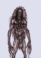 Folklore Wendigo - Rough Sketch by OnHolyServiceBound