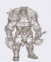 Rexxar Sketch by OnHolyServiceBound