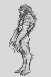 Full Body Orc Sketch Reference by OnHolyServiceBound