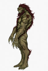 Full Body Orc Coloured Sketch by OnHolyServiceBound