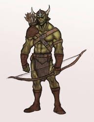 Orc Archer Grun by OnHolyServiceBound