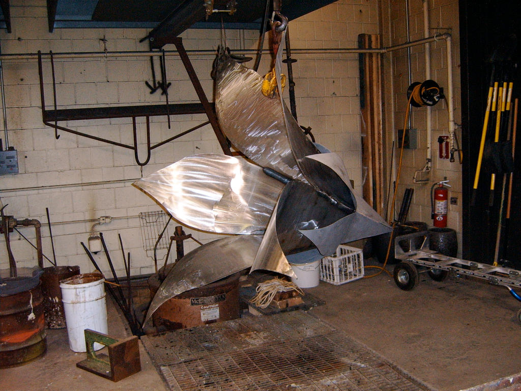 Making My first steel sculpture in college by mesneller