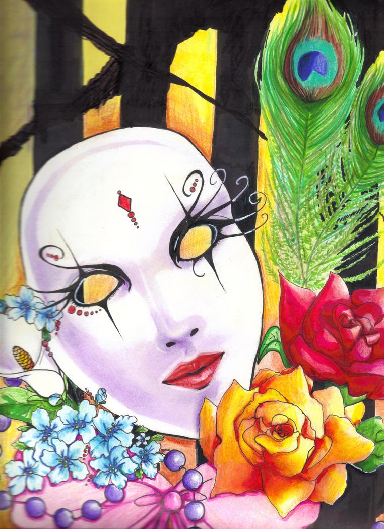 Carnival Mask by tabbycat85