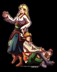 The sky children by Queen-Zelda