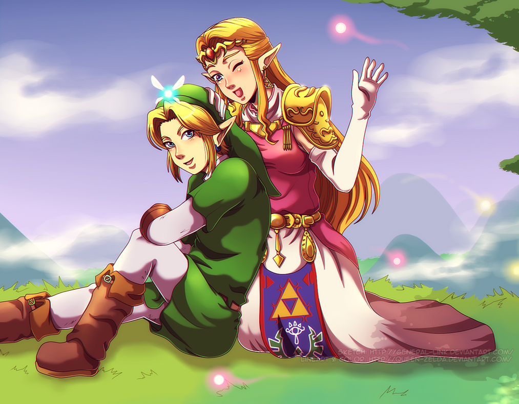 Happy heroes by Queen-Zelda
