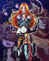 Melancholy rose by Queen-Zelda
