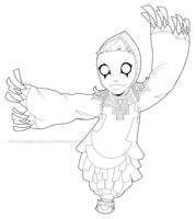 Know my ballerina me (Lineart) by Queen-Zelda