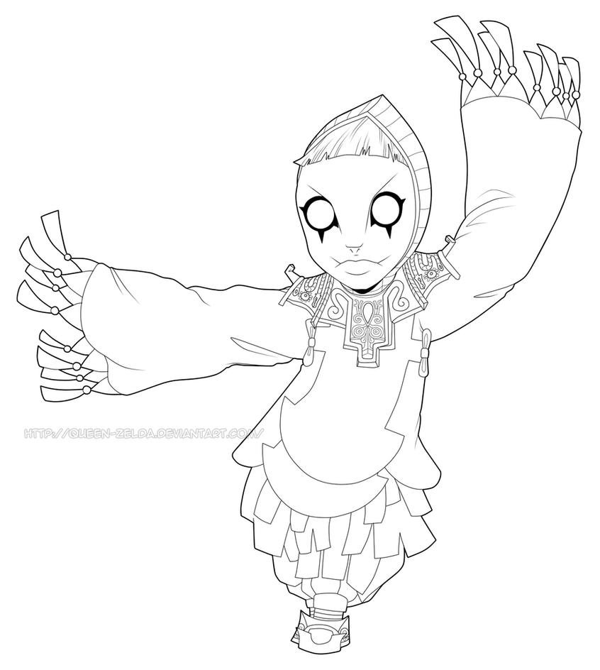 Know my ballerina me (Lineart) by Queen-Zelda on DeviantArt