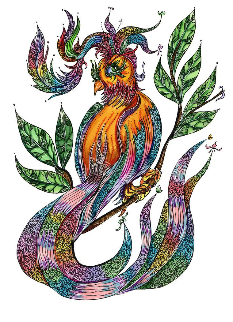 Magic bird by Cranash64
