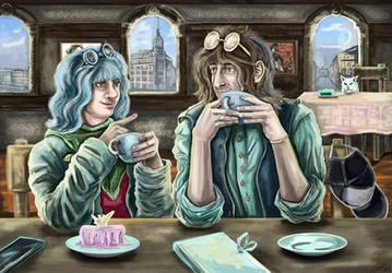 Best friends. Coffee time (Modern AU) by Cranash64