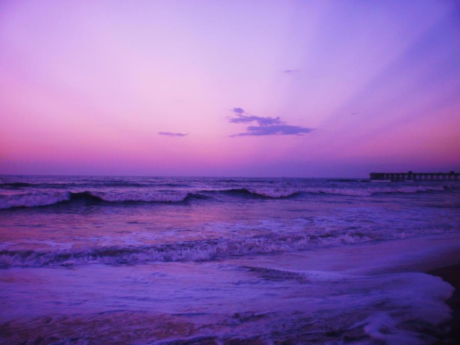 BEACH PHOTOGRAPHY : PURPLE SUNSET EDITION – Pinkets&Roses