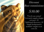 Discount Bust Commissions- OPEN PayPal and Points by Alikrea