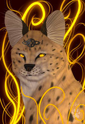 Eyes of Golden Flames- commission