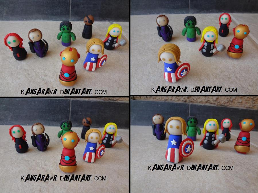 Avengers ASSEMBLE! by kangarawr