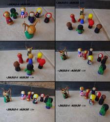 Avengers VS Loki by kangarawr