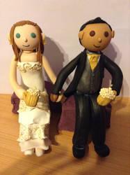 Bride and groom by kangarawr