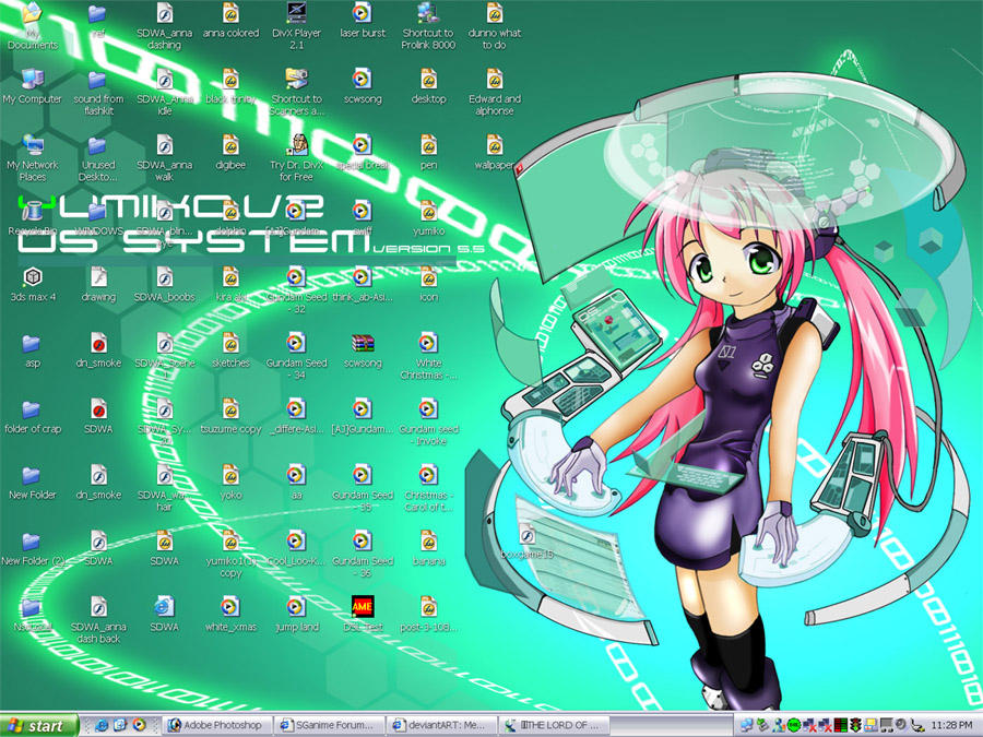 Yumiko OS Desktop by NCH85