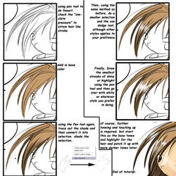 Simple tutorial on anime hair. by NCH85