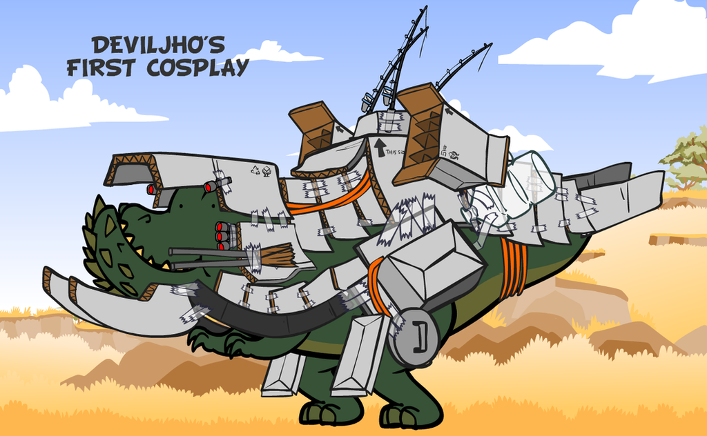 Deviljho's first cosplay... by NCH85