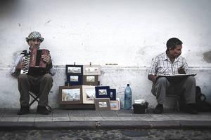 Antigua Guatemala, acuarelas y acordeon by aviFerra