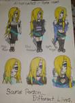 Sketchbook 37: Old Tora AUs by Glassheartgurl