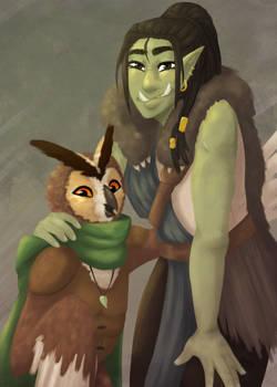 Errek and Sadie Painting (DnD)