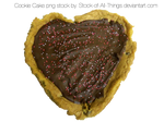 Heart Shaped Cookie Cake stock.png by Stock-of-All-Things