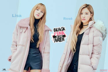 Lalisa And Rose + Blackpink In Your Area Poster