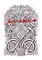 Celtic 'flowerpot' Shaded by Feivelyn