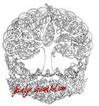 Yggdrasil outline drawing