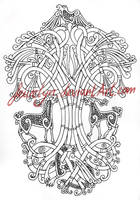 Yggdrasil Tattoo commission by Feivelyn