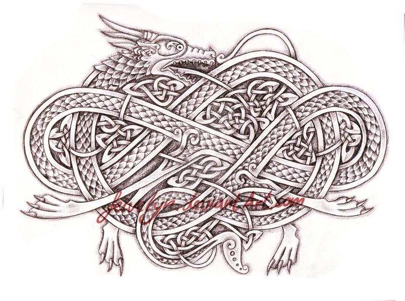 celtic dragon v by feivelyn on deviantart. Black Bedroom Furniture Sets. Home Design Ideas