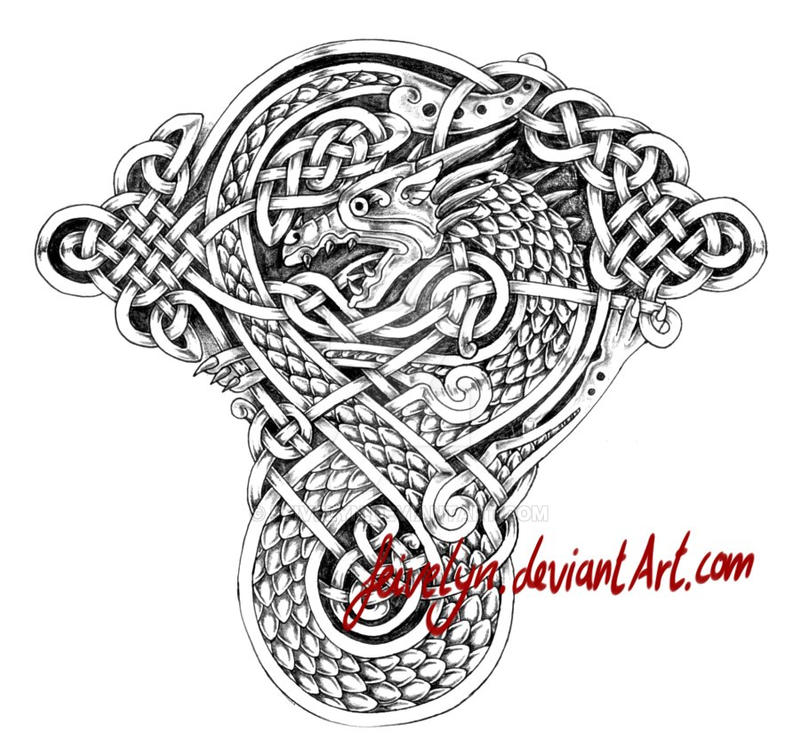 celtic dragon viii tattoo by feivelyn on deviantart. Black Bedroom Furniture Sets. Home Design Ideas