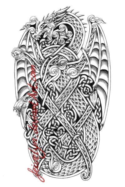 celtic dragon ix by feivelyn on deviantart. Black Bedroom Furniture Sets. Home Design Ideas