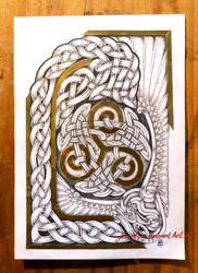 Random knot with triskelion