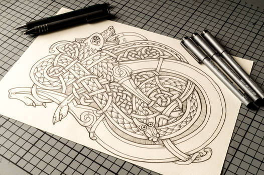 Celtic Wolf and Snake