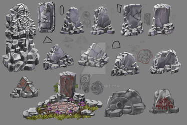 Fantasy Runestone concepts by Feivelyn